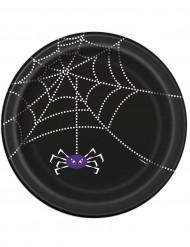 8 piatti di carta ragnatela Halloween