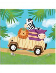 16 tovaglioli di carta Safari avventura