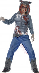 Costume lupo mannaro sanguinante bambino Halloween