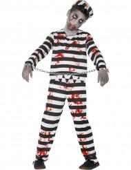 Costume zombie prigioniero bambino Halloween
