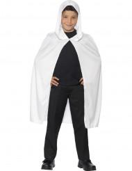 Mantello con cappuccio bianco bambino halloween