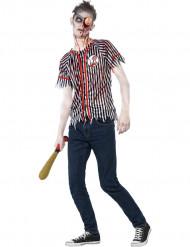 Costume zombie giocatore di baseball ragazzo Halloween