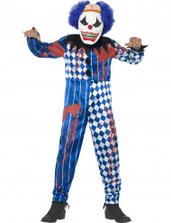Costume clown terrificante Halloween bambino