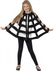 Mantello ragnatela nero bambino Halloween