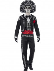Costume scheletro messicano adulto Halloween