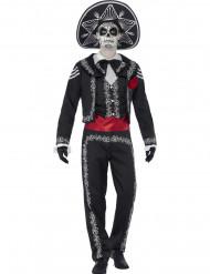 Costume scheletro messicano adulto Halloween