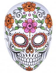 Maschera scheletro colorata Halloween