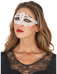 Maschera con pizzo bianca da donna