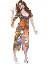Costume da donna hippy zombie