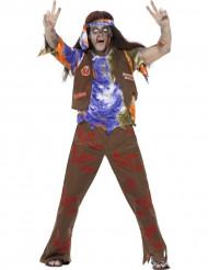 Costume da zombie hippy uomo