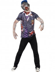 T-shirt da studente zombie uomo Halloween