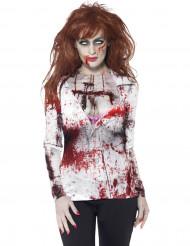 T-shirt zombie sexy da donna per Halloween