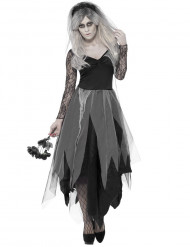 Costume sposa fantasma in nero donna Halloween