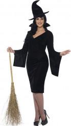 Costume da strega di colore nero per Halloween