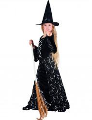 Costume strega della luna bambina Halloween