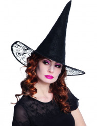 Cappello strega dentellato adulto Halloween