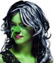 Naso strega verde adulto Halloween.