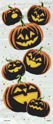 Decorazione Halloween: 20 sacchetti per caramelle di plastica zucche diaboliche
