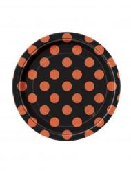 8 piatti neri a poi arancioni