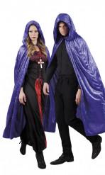 Mantello di Halloween viola per adulti