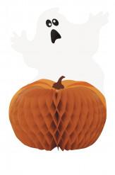 Decorazione Halloween: centrotavola zuca e fantazsma di carta