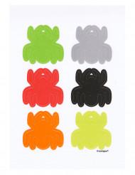 Image of        Decorazione di Halloween: 6 ragni adesivi per bicchiere