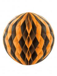 Palla di carta nera e arancione Halloween