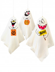 Decorazione Halloween: 3 fantasmi buffi