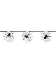 Decorazione Halloween: ghirlanda di ragni e ragnatele