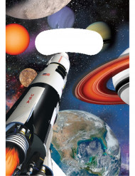 8 Buste regalo di compleanno navicella spaziale