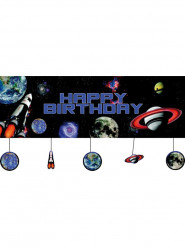 Striscione happy Birthday spaziale