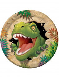 8 piatti cartone Dinosauro