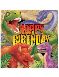 16 tovaglioli carta Dinosauri