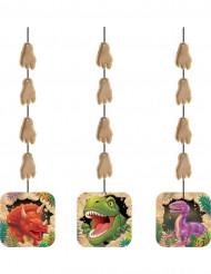 3 Ghirlande verticali Compleanno Dinosauri