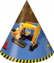 8 Cappellini da festa Compleanno sul cantiere