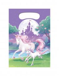 8 sacchetti per caramelle Magico Unicorno