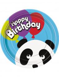 8 piatti cartone Panda
