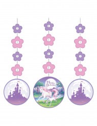 3 Decorazioni da appendere unicorno magico