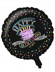 Palloncino di alluminio Happy Birthday Coriandoli
