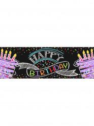 Striscione Happy Birthday Coriandoli