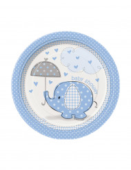 8 piattini elefante blu
