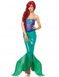 Costume deluxe sirena con strass per donna