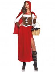 Costume da Cappuccetto Rosso con spacco per donna