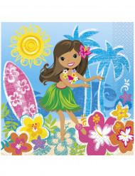 Confezione 16 tovaglioli hawaiani