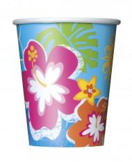 Confezione di 8 bicchieri di carta hawaiani