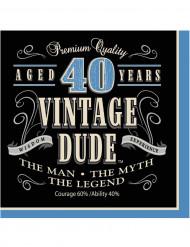 16 Tovagliolini di carta Compleanno Vintage 40 anni