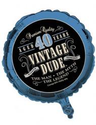 Palloncino alluminio Compleanno Vintage 40 anni