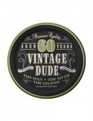 8 Piattini di carta Vintage 60 anni