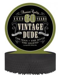 Centro tavola Compleanno Vintage: 60 anni