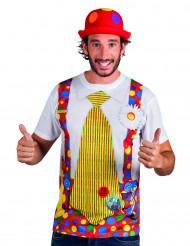 T-shirt clown per adulto